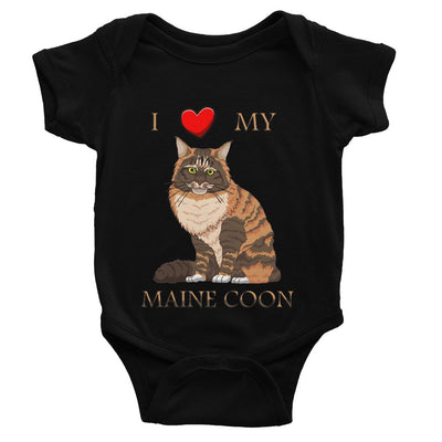 I Love My Maine Coon Baby Bodysuit