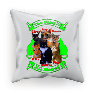 The Gang Is All Here 6 Cats Cushion