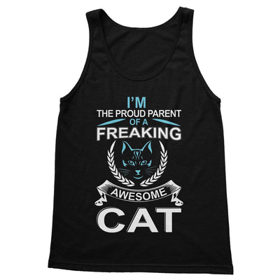 I'm The Proud Parent Of A Freaking Awesome Cat Softstyle Tank Top