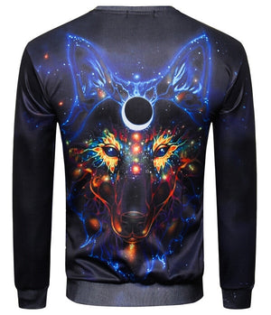 Native Neon Wolf 3-D Sweatshirt