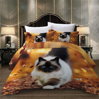 Exotic Ragdoll Cat Duvet Cover Set
