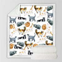 Cute Cats Cartoon Blanket