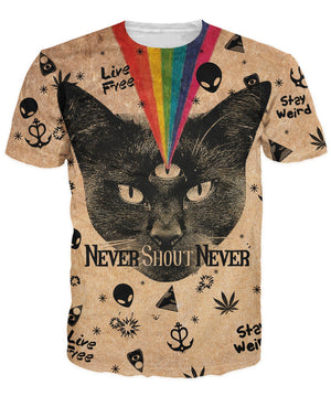 Magic Black Cat Never Shout T-Shirt