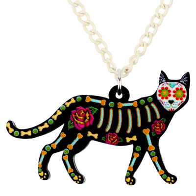 Skeleton Cat Necklace