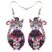 Exotic Acrylic Kitty Earrings