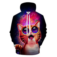 Cartoon Cat 3-D Hoodie