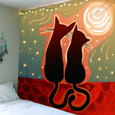 Cartoon Sugar Cat  Wall Hanging Tapestry