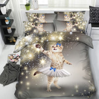 Cat 3-D Princess Magic Duvet Cover Set