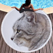 Cute Cat Tapestry Beach Towels