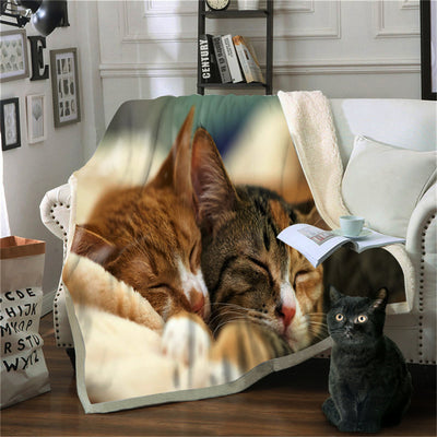 Cat Blanket On Bed Christmas Gift