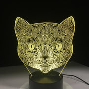 Cat Face 3-D Visual Lamp