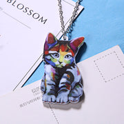 Acrylic Cat Necklaces For Women