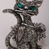 Exotic Cat Charm Ring