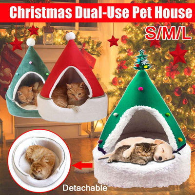 Christmas Dog And Cat Cushion House