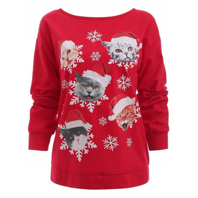 Christmas Cat Ugly Sweater