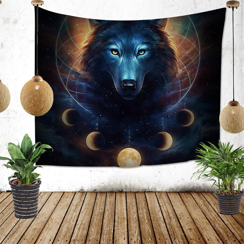 Wolf Moon Tapestry