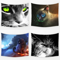 3-D Creative Cool Cats-Tapestry