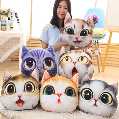 Funny Cartoon 3-D Pillow Cushion