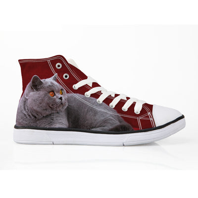 Customized 3-D Cat Sneakers