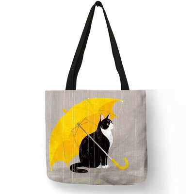 Cartoon Kitty Cat Print Tote Bag For Women