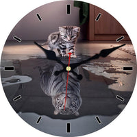 Cute Cat Tiger Wall Clock