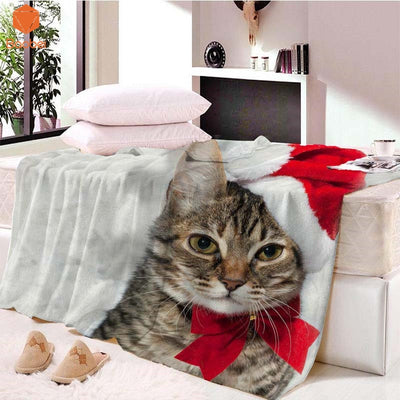 Cute Christmas Cat Blanket