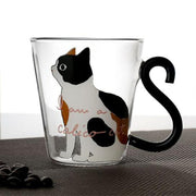 Cat Kitty Glass Mug Tea Cup