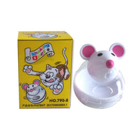 Cute Cat Feeder Mice Shape Rolling Dispenser Toy