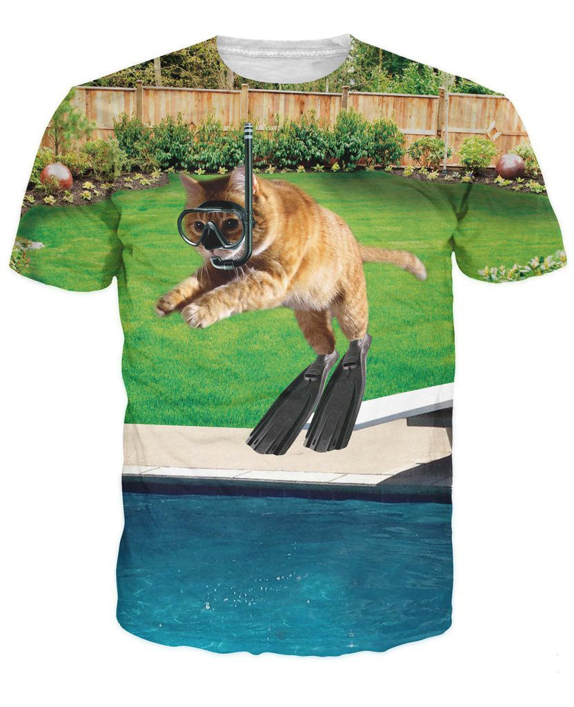 Kitty Diver T Shirt