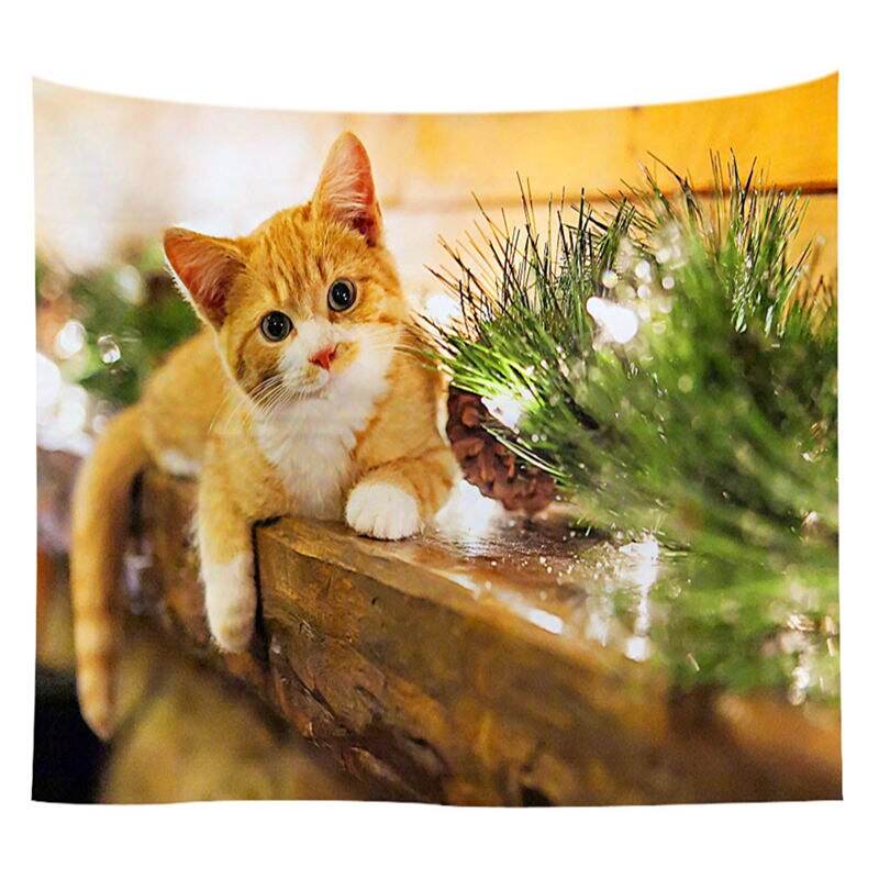 Holiday Edition Cat Tapestry