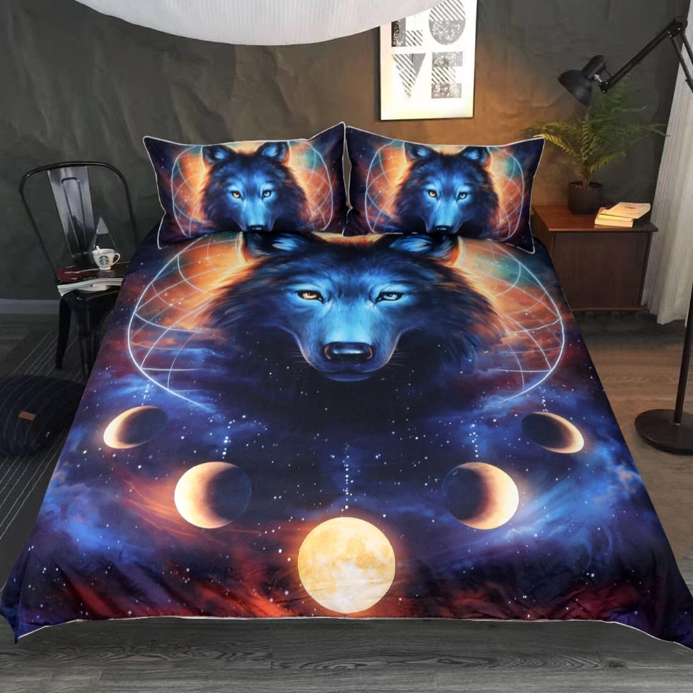 Dream Catcher Wolf Duvet Cover Bed Set