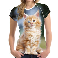 Funny 3-D Cat/Kitten  T - Shirts