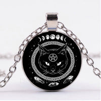 Black Cat Witch Necklace