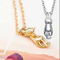 Silver And Gold Cat Necklaces