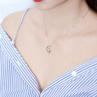 Cat Love Moon Necklace