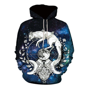 Astrological Cat 3-D Hoodie