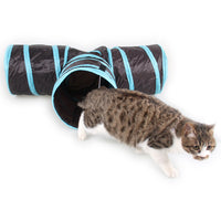 Foldable 3 Holes Pet Cat Tunnel