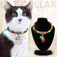 Handmade Cat Gold Collar With Black Rope