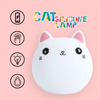 Friendly Silicone Cute Cat LED Night light