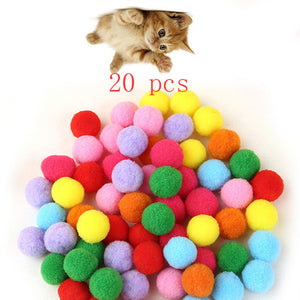 10 Piece/lot Soft Cat Toy Balls
