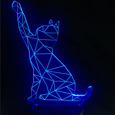 3D Kawaii Animal Black Cat LED USB Lamp