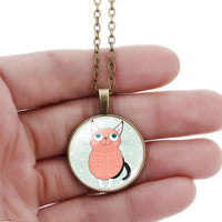Cartoon Cat Kissing Necklaces