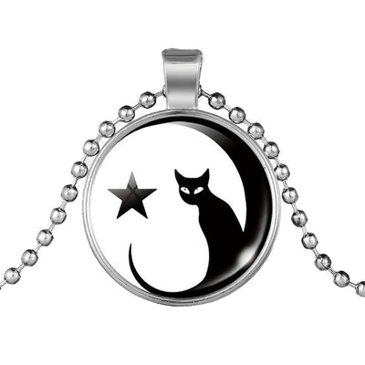 Magic Cat Moon Crescent Necklace
