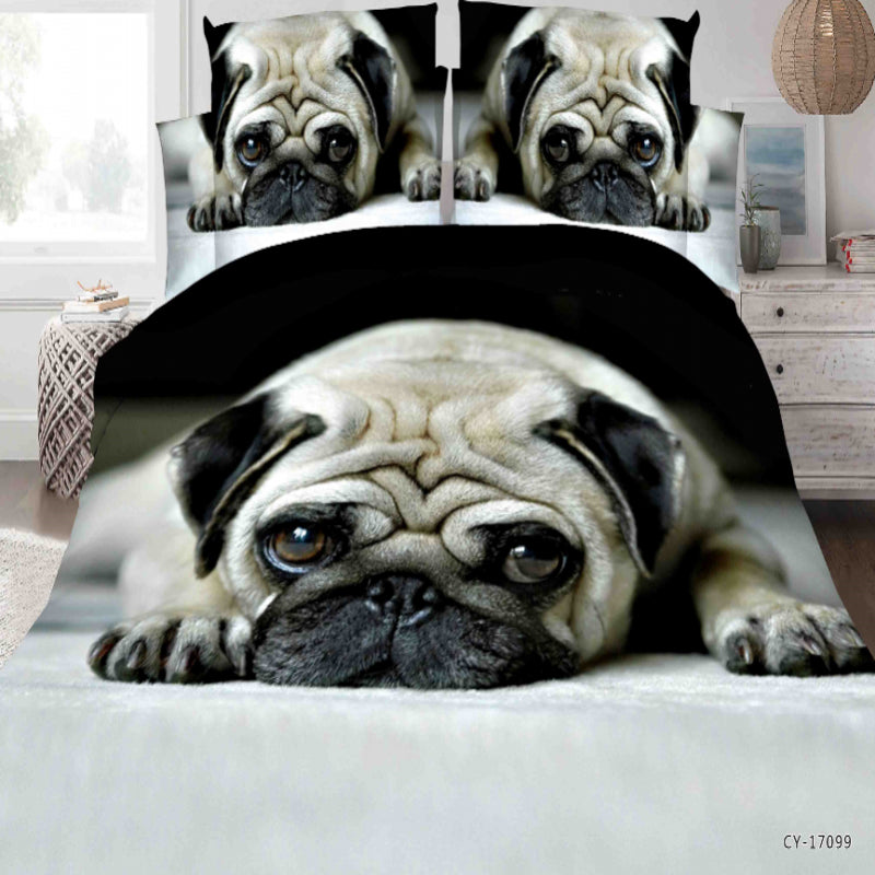 Cute Pug Dog Bedding Set