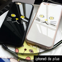 Black And White Cat Face For iPhone