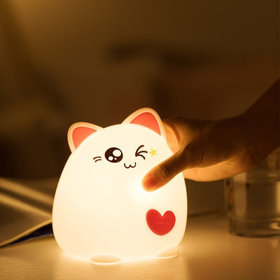 Lovely Cat LED Light Touch Lamps