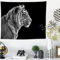 Cat And Big Cats Tapestry