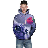 Strawberry Lovely Cat 3D Hoodie