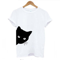 Black Cat Peekaboo T Shirts