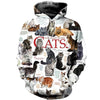 All Cats All Over 3-D Hoodie